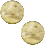 Polaris Elements Cabochon 12 mm flach Perlmutt Light olive green