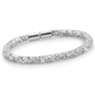 Kristall Facett Armband single Silber - silver crystal