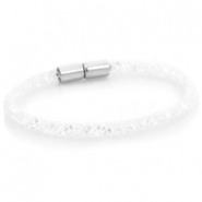 Kristall Facett Armband single White - crystal