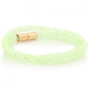 Kristall Facett Armband doppel Crysolite green - crystal