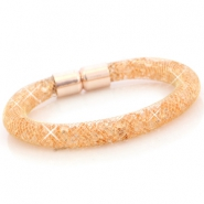 Kristall Facett Armband Gold - peach orange crystal