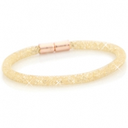 Kristall Facett Armband single Gold - light colorado topaz