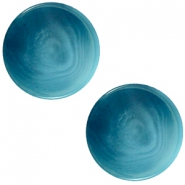 12mm flach Polaris Elements Cabochon Jaquard Light denim blue