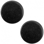 12mm flache Polaris Elements Super Cabochon Nero schwarz