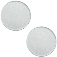 12mm flache Polaris Elements Super Cabochon Ice grey