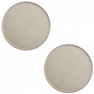 12mm flache Polaris Elements Super Cabochon Dusty grey
