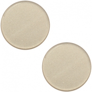 12mm flache Polaris Elements Super Cabochon Light taupe