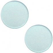 12mm flache Polaris Elements Super Cabochon Haze blue