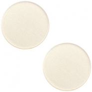 12mm flache Polaris Elements Super Cabochon Silk beige