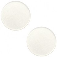 12mm flache Polaris Elements Super Cabochon Antique white