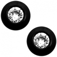 12 mm classic Polaris Elements Super Cabochon SS29 Swarovski Nero schwarz