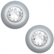 12 mm classic Polaris Elements Super Cabochon SS29 Swarovski Ice grey
