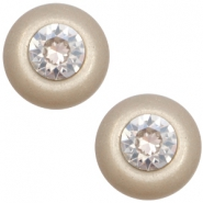 12 mm classic Polaris Elements Super Cabochon SS29 Swarovski Light taupe