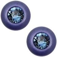 12 mm classic Polaris Elements Super Cabochon SS29 Swarovski Midnight blue