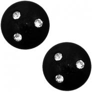 12 mm classic Polaris Elements Super Cabochon 3 Swarovski Steine Nero schwarz