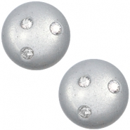 12 mm classic Polaris Elements Super Cabochon 3 Swarovski Steine Ice grey
