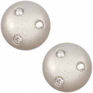 12 mm classic Polaris Elements Super Cabochon 3 Swarovski Steine Silver shade