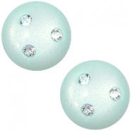12 mm classic Polaris Elements Super Cabochon 3 Swarovski Steine Light aqua green