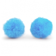 Anhänger Pompom 8 mm Light blue