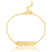 "Rostfreie Stahl Armbänder ""WISH DREAM BELIEVE"" Gold"