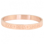 "Rostfreie Stahl Armbänder ""food♡friends♡sunshine Rosegold"