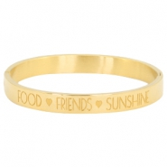 "Rostfreie Stahl Armbänder ""food♡friends♡sunshine Gold"