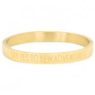 "Rostfreie Stahl Armbänder ""SAY YES TO NEW ADVENTURES"" Gold"