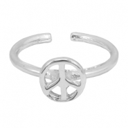 Trendy Ring Peace Silber