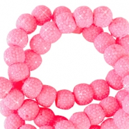 Sparkle beads 6mm Tropical pink