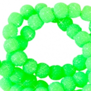 Sparkle beads 6mm Neon grün