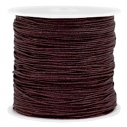 Band Macramé 0.8mm Dark chocolate brown