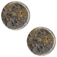 12mm flach Polaris Elements Stardust Cabochon Dark grey