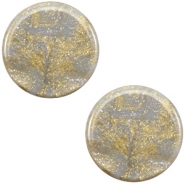 12mm flach Polaris Elements Stardust Cabochon Grey