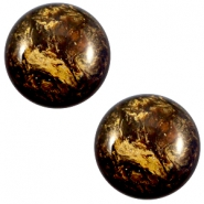 12 mm classic Polaris Elements Stardust Cabochon Dark smoke topaz