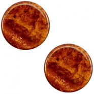 12mm flach Polaris Elements Stardust Cabochon Topaz brown