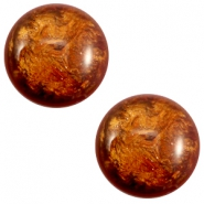 12 mm classic Polaris Elements Stardust Cabochon Topaz brown