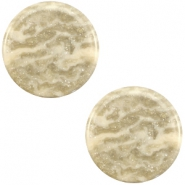 12mm flach Polaris Elements Stardust Cabochon Sand beige