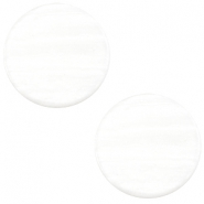 12mm flach Polaris Elements Sparkle dust Cabochon Ivory white