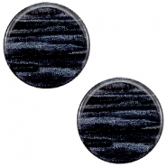 12mm flach Polaris Elements Sparkle dust Cabochon Indigo blue