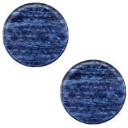12mm flach Polaris Elements Sparkle dust Cabochon Montana blue