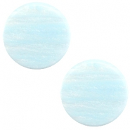 12mm flach Polaris Elements Sparkle dust Cabochon Soft blue