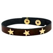 Armband mit Nieten Stern gold Dark chocolate brown