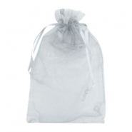 Organza Schmuck Beutel 13x18cm Light grey