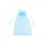 Organza Schmuck Beutel 7x9cm Light blue