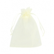 Organza Schmuck Beutel 10x13cm Light yellow