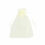 Organza Schmuck Beutel 9x12cm Light yellow