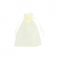 Organza Schmuck Beutel 7x9cm Light yellow