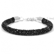 Armband Crystal diamond 7mm Jet black