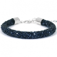 Armband Crystal diamond 8mm Monatana blue