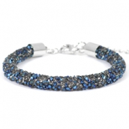 Armband Crystal diamond 7mm Crystal-metallic blue